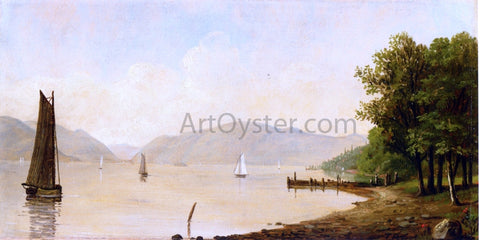 Thomas Benjamin Pope Sunlit Cove - Hand Painted Oil Painting