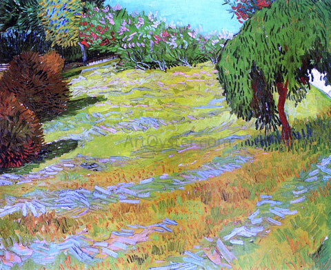 Vincent Van Gogh Sunny Lawn in a Public Park - Hand Painted Oil Painting