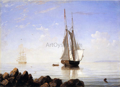 Fitz Hugh Lane Sunny Morning, Gloucester Harbor - Hand Painted Oil Painting