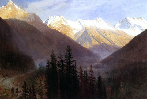 Albert Bierstadt Sunrise at Glacier Station - Hand Painted Oil Painting