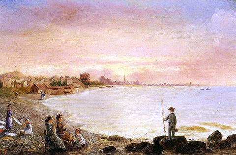 Conrad Wise Chapman Sunrise at Saint Malo - Hand Painted Oil Painting