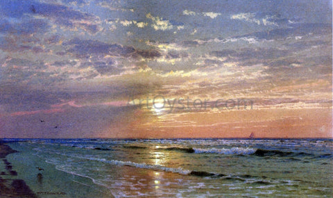 William Trost Richards Sunrise, Atlantic City - Hand Painted Oil Painting