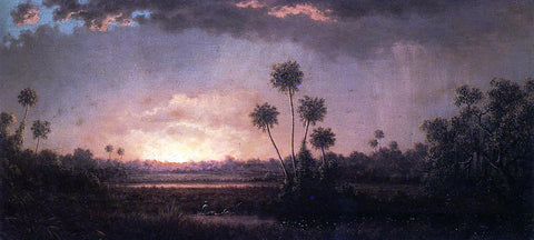Martin Johnson Heade Sunrise, Florida - Hand Painted Oil Painting