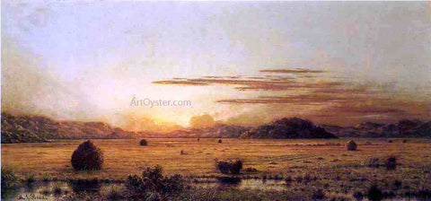 Martin Johnson Heade Sunrise, Hoboken Meadows - Hand Painted Oil Painting