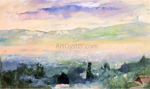 John La Farge Sunrise in Fog over Kyoto - Hand Painted Oil Painting