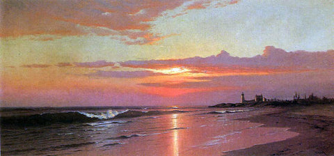 Francis A Silva Sunrise: Marine View - Hand Painted Oil Painting