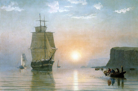 William Bradford Sunrise off Grand Manan - Hand Painted Oil Painting