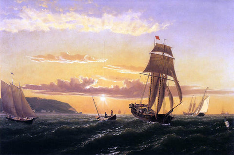 William Bradford Sunrise on the Bay of Fundy - Hand Painted Oil Painting