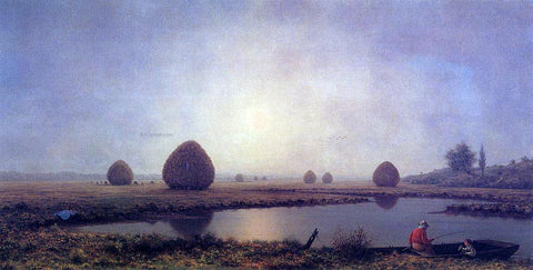 Martin Johnson Heade Sunrise on the Marshes - Hand Painted Oil Painting