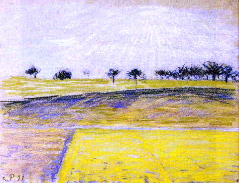 Camille Pissarro Sunrise over the Fields, Eragny - Hand Painted Oil Painting