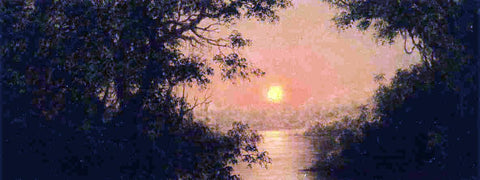 Martin Johnson Heade Sunset (also known as Jungle Scene) - Hand Painted Oil Painting