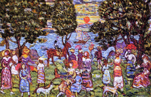 Maurice Prendergast Sunset - Hand Painted Oil Painting