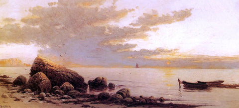 Alfred Thompson Bricher Sunset - Hand Painted Oil Painting