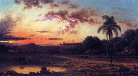 Martin Johnson Heade Sunset: A Scene in Brazil - Hand Painted Oil Painting