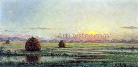 Martin Johnson Heade Sunset - A Sketch - Hand Painted Oil Painting