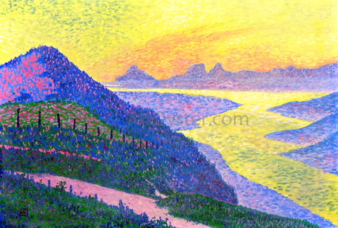 Theo Van Rysselberghe Sunset at Ambleteuse - Hand Painted Oil Painting
