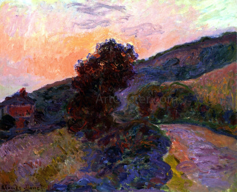 Claude Oscar Monet Sunset at Giverny - Hand Painted Oil Painting