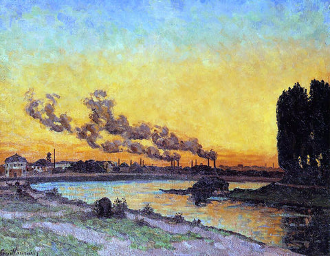 Armand Guillaumin Sunset at Ivry - Hand Painted Oil Painting