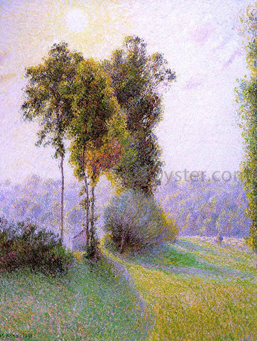 Camille Pissarro Sunset at St. Charles, Eragny - Hand Painted Oil Painting