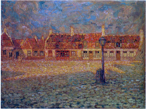 Henri Le Sidaner Sunset at the Petit Palace Gravelines - Hand Painted Oil Painting