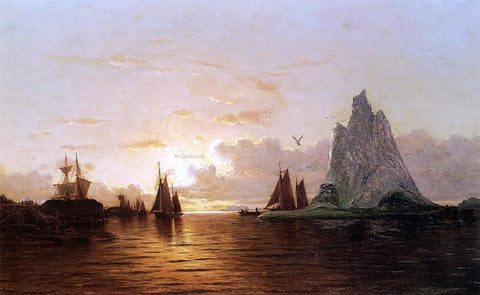 William Bradford Sunset at the Strait of Belle Isle - Hand Painted Oil Painting