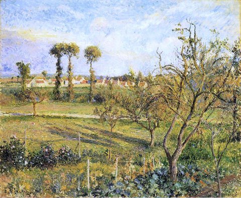 Camille Pissarro Sunset at Valhermeil, near Pontoise - Hand Painted Oil Painting