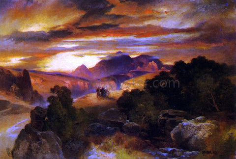 Thomas Moran Sunset - Hand Painted Oil Painting