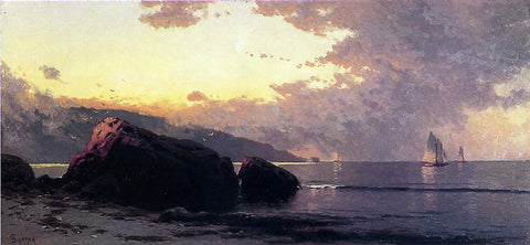 Alfred Thompson Bricher Sunset, Bailey Island - Hand Painted Oil Painting