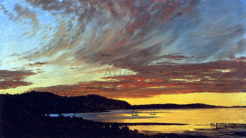 Frederic Edwin Church Sunset, Bar Harbor - Hand Painted Oil Painting