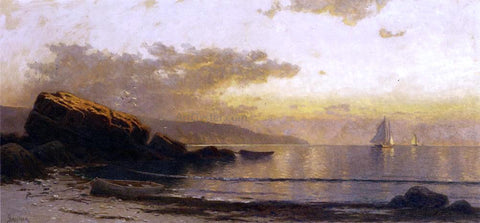 Alfred Thompson Bricher Sunset Coast - Hand Painted Oil Painting
