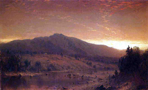 Sanford Robinson Gifford Sunset - Hand Painted Oil Painting