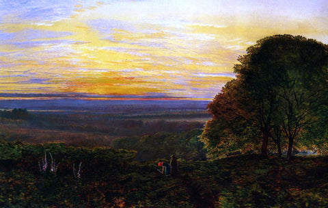John Atkinson Grimshaw Sunset from Chilworth Common, Hampshire - Hand Painted Oil Painting