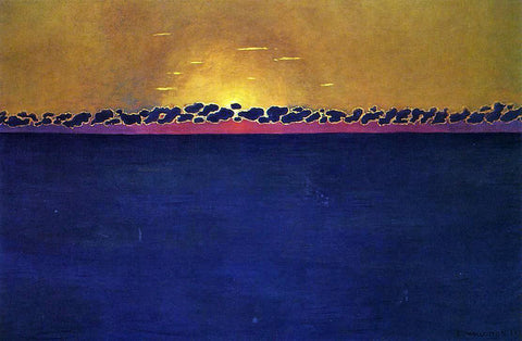 Felix Vallotton Sunset, Gray-Blue High Tide - Hand Painted Oil Painting