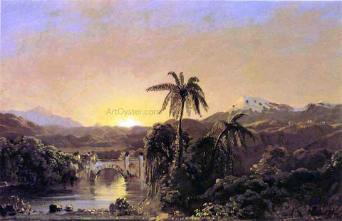 Frederic Edwin Church Sunset in Ecuador - Hand Painted Oil Painting
