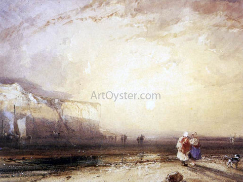 Richard Parkes Bonington Sunset in the Pays de Caux - Hand Painted Oil Painting