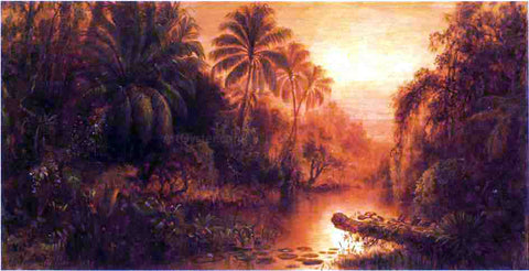 Levi Wells Prentice Sunset in the Tropics - Hand Painted Oil Painting