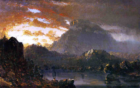 Sanford Robinson Gifford Sunset in the Wilderness with Approaching Storm (Sketch) - Hand Painted Oil Painting
