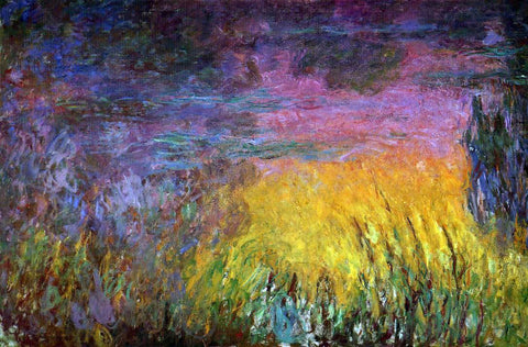 Claude Oscar Monet Sunset (left half) - Hand Painted Oil Painting