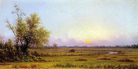 Martin Johnson Heade Sunset Marsh (also known as Sinking Sun) - Hand Painted Oil Painting