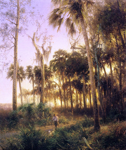 Herman Herzog Sunset near Low Creek, Florida - Hand Painted Oil Painting