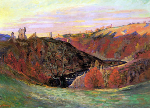 Armand Guillaumin Sunset on the Creuse - Hand Painted Oil Painting