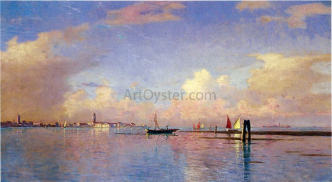 William Stanley Haseltine Sunset on the Grand Canal, Venice - Hand Painted Oil Painting