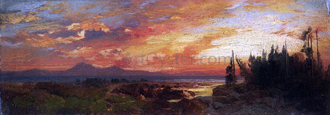 Thomas Moran Sunset on the Great Salt Lake, Utah - Hand Painted Oil Painting