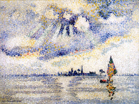Henri Edmond Cross Sunset on the Lagoon, Venice - Hand Painted Oil Painting