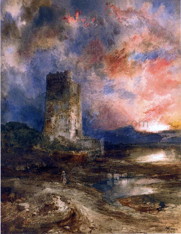 Thomas Moran Sunset on the Moor - Hand Painted Oil Painting