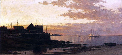 Alfred Thompson Bricher Sunset over the Bay - Hand Painted Oil Painting