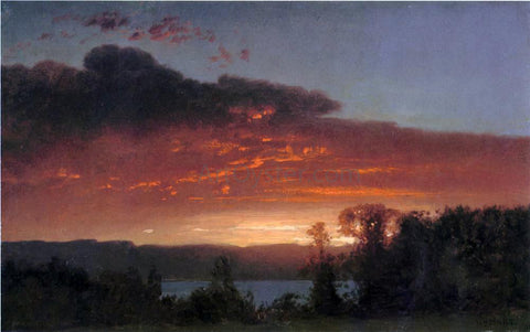 William M Hart Sunset over the Lake - Hand Painted Oil Painting