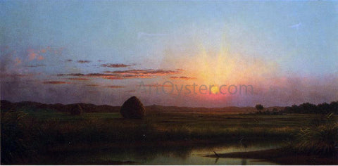 Martin Johnson Heade Sunset over the Marsh - Hand Painted Oil Painting