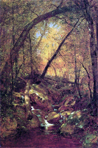 Thomas Worthington Whittredge Sunshine on the Brook - Hand Painted Oil Painting