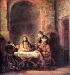 Rembrandt Van Rijn A Supper at Emmaus - Hand Painted Oil Painting